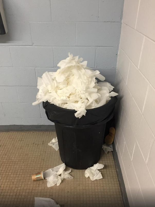Restroom Trash Bin